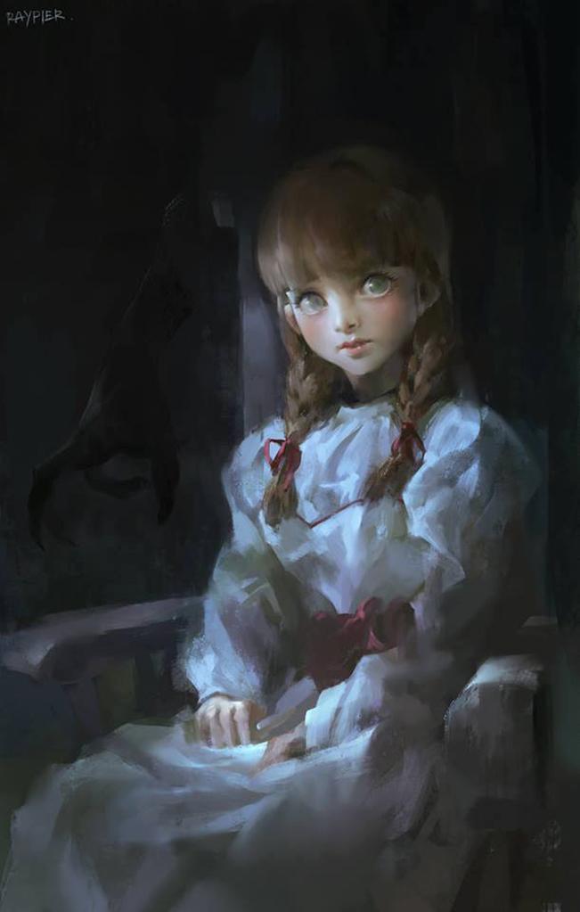 Vẽ tranh Annabelle, họa sĩ thấy hoang mang sau khi nhận ra có điểm bất thường trong đó - Ảnh 1.